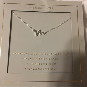BNWT Sterling Silver Heart Rate Necklace